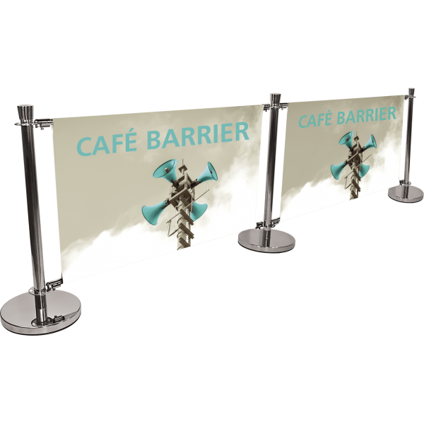 Cafe Barrier Indoor-Outdoor Banner Stand System Extension Kit