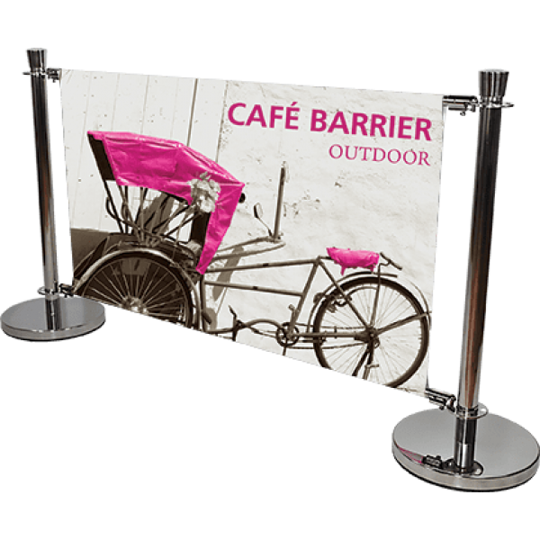 Cafe Barrier Indoor-Outdoor Banner Stand System