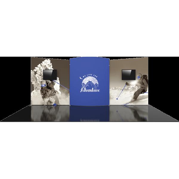 Formulate Designer Series 20ft Fabric Backwall Kit 08