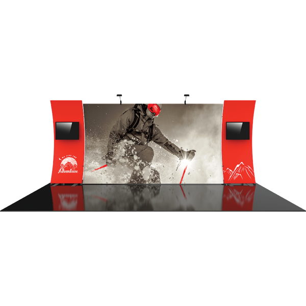 Formulate Designer Series 20ft Fabric Backwall Kit 12