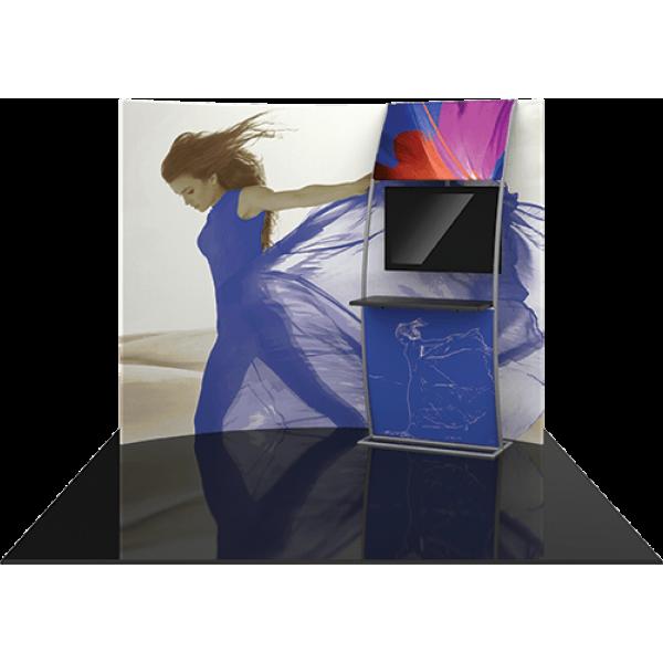 Formulate Master 10ft HC6 Horizontal Curve Fabric Backwall