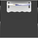 Formulate Master Tabletop TT4 Fabric Backwall
