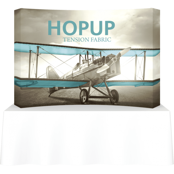 Hopup 8ft Curved Tabletop Tension Fabric Display