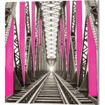 Vector Frame Edge S-01 Square Fabric Poster Display