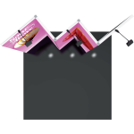 Vector Frame Essential 10ft Modular Backwall Kit 01