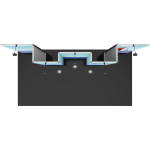 Vector Frame Essential 20ft Modular Backwall Kit 06