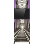 Vector Frame Monitor Kiosk 01 - Double Sided Monitor Mount