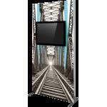 Vector Frame Monitor Kiosk 02 - Double Sided Monitor Mount