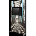 Vector Frame Monitor Kiosk 02 - Single Sided Monitor Mount
