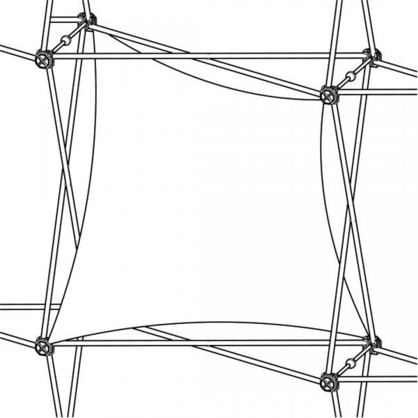 Xclaim (1x1 Quad) Double Twist Fabric Popup Display Graphic