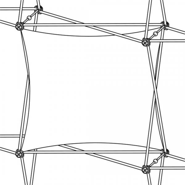 Xclaim (1x1 Quad) Horizontal Twist Fabric Popup Display Graphic