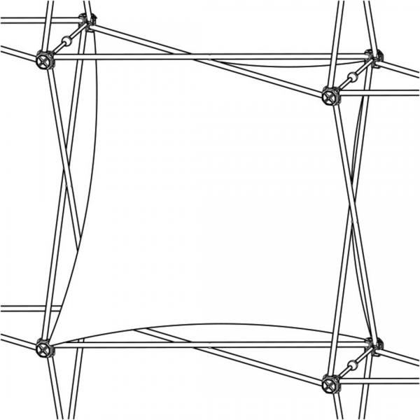 Xclaim (1x1 Quad) Single Twist Fabric Popup Display Graphic