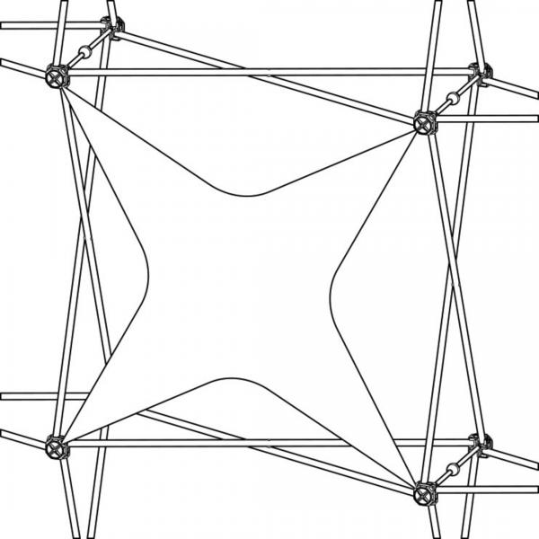 Xclaim (1x1 Quad) Star Fabric Popup Display Graphic