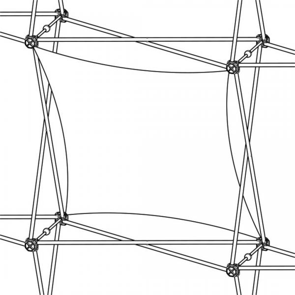 Xclaim (1x1 Quad) Vertical Twist Fabric Popup Display Graphic