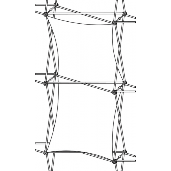 Xclaim (1x2 Quad) Double Thread Fabric Popup Display Graphic