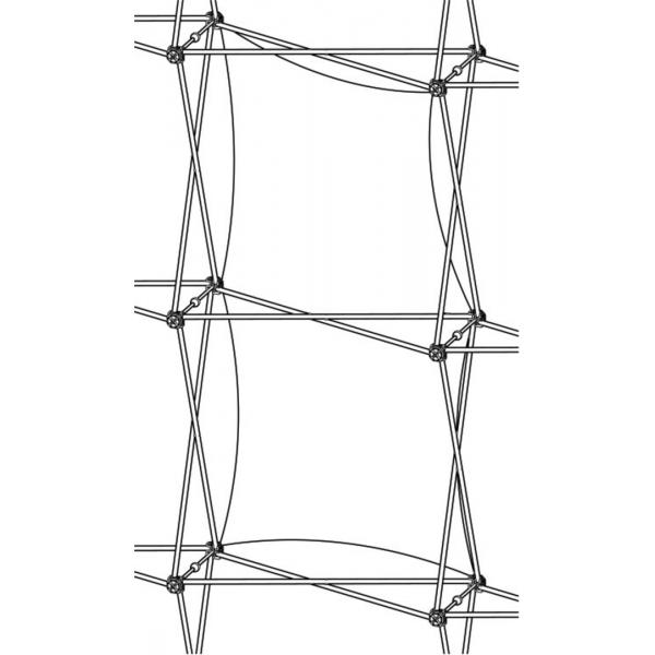 Xclaim (1x2 Quad) Single Twist Fabric Popup Display Graphic