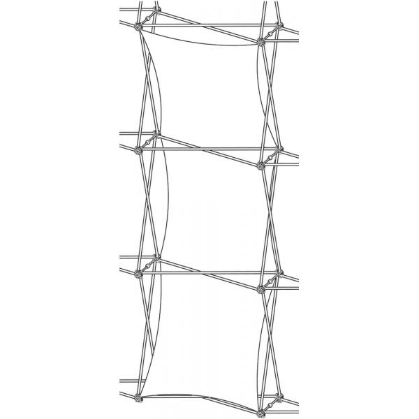 Xclaim (1x3 Quad) Double Thread Fabric Popup Display Graphic