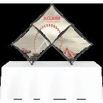 Xclaim 8ft Tabletop 3 Quad Pyramid Fabric Popup Display Kit 01