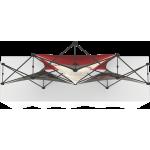 Xclaim 8ft Tabletop 3 Quad Pyramid Fabric Popup Display Kit 02